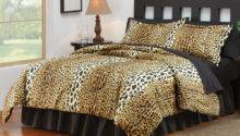 Cheetah Print Bedroom Comforter Set Collections