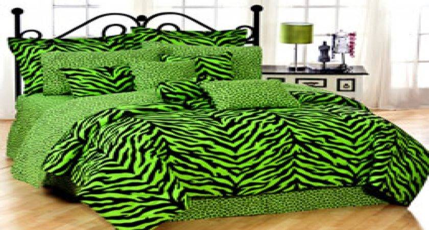 Cheetah Print Bedrooms Lime Green Dorm Bedding