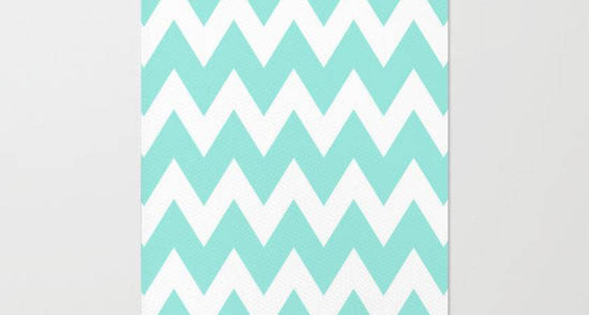 Chevron Tiffany Blue Rug Beautiful Society