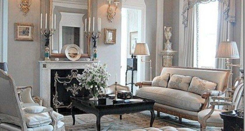 Chic Luxurious Large French Style Living Room Ideas