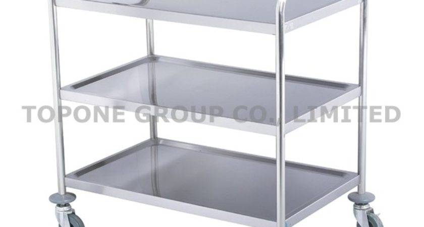China Stainless Steel Food Water Carts Trolley