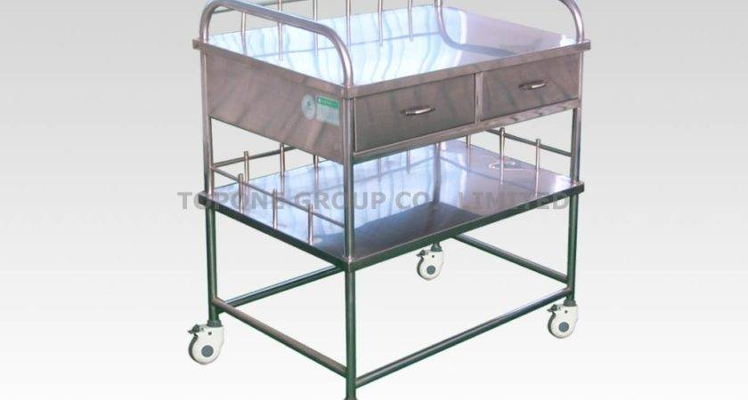 China Stainless Steel Instrument Trolley Cart Hospital