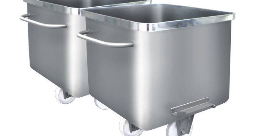 China Stainless Steel Meat Truck Trolley Cart Vessel