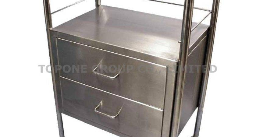 China Stainless Steel Treatment Carts Trolley