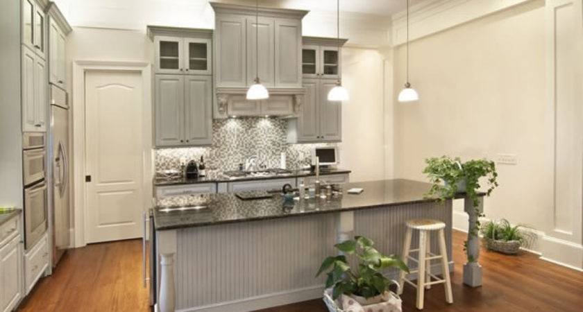 Choosing Cabinet Paint Colors Gray Creamy White