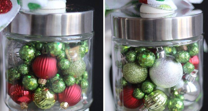 Christmas Apothecary Jars Decorations