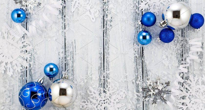 Christmas Blue Silver Decorations Holiday Photos