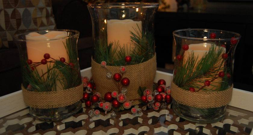 Christmas Candle Centerpiece Made Style