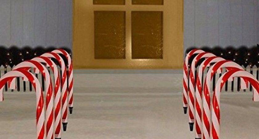 Christmas Candy Cane Set Pathway Decoration Lights