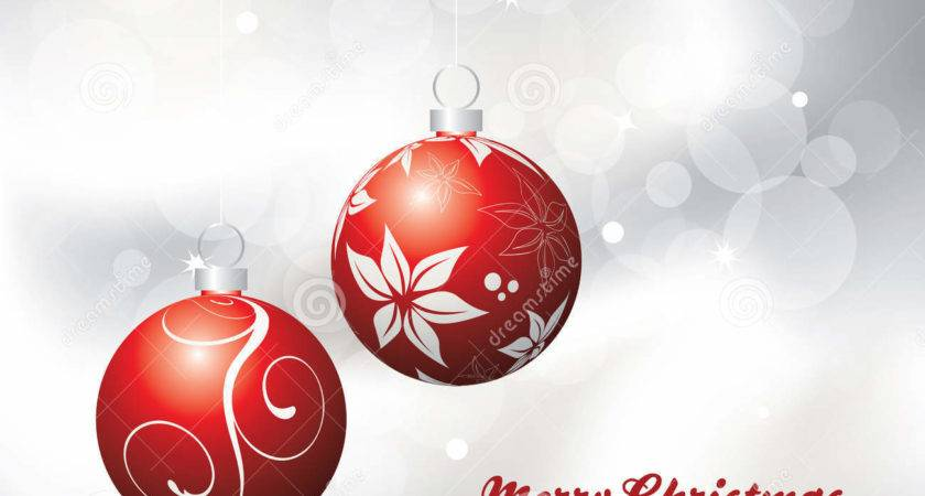 Christmas Card Red Silver