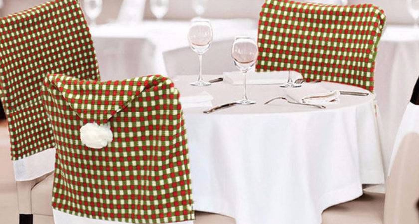 Christmas Chair Seat Cover Hotel Dining Room
