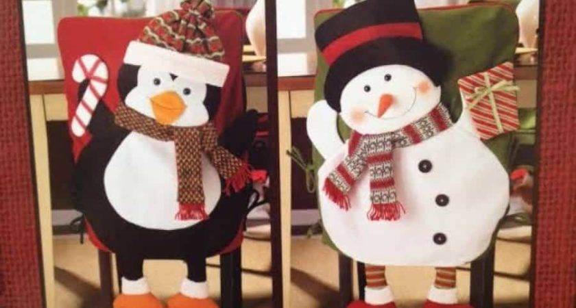 Christmas Dining Decoration Chair Slipcover Set