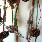 Christmas Garland Decor Twig Pinecone Rustic Woodland