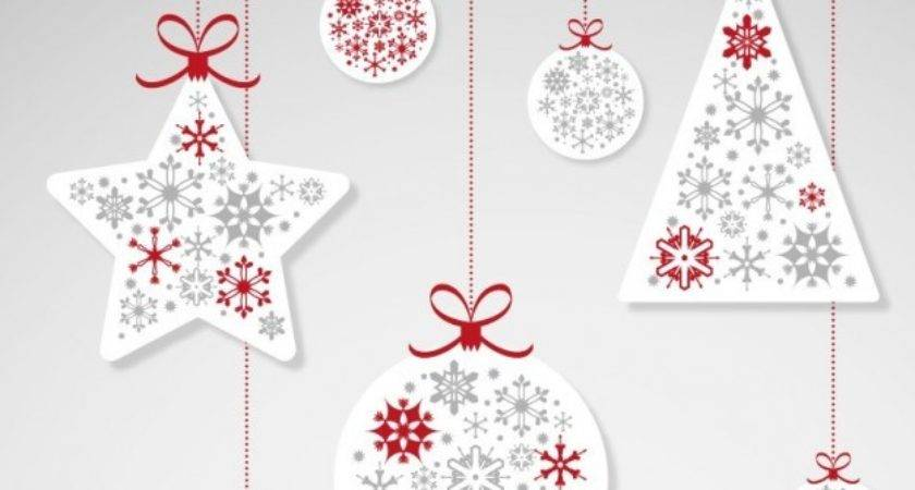 Christmas Hanging Ornaments Vector