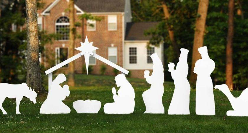 Christmas Lawn Decorations Nativity Scene
