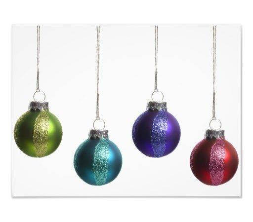 Christmas Ornaments Teal Purple Red Green Gold Zazzle