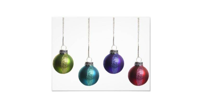 Christmas Ornaments Teal Purple Red Green Gold