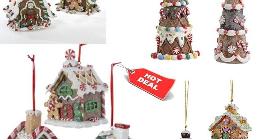 Christmas Ornaments Tree Gingerbread House Hanging