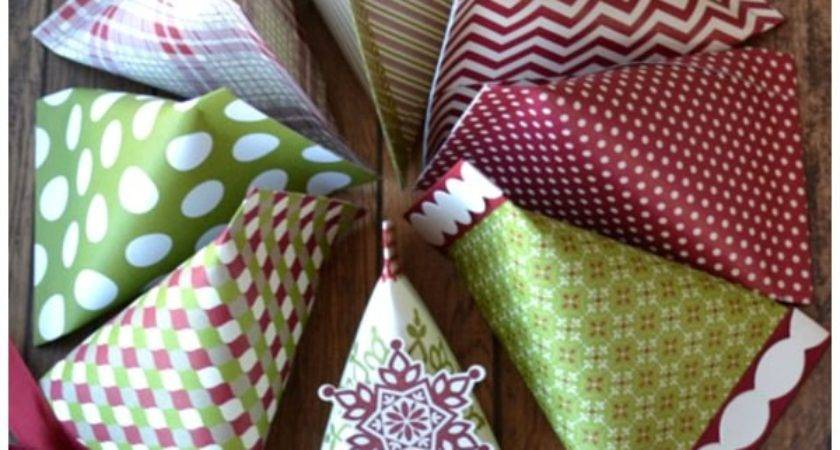 Christmas Paper Craft Ideas Sour Cream Containers
