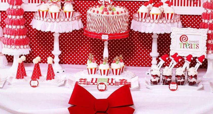 Christmas Party Decorations Tables Photograph Candy