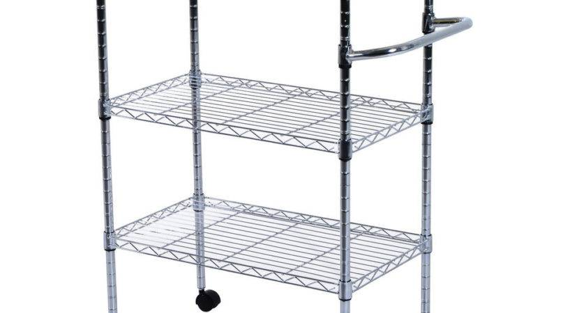 Chrom Tier Kitchen Cart Trolley Wire Rolling Utility