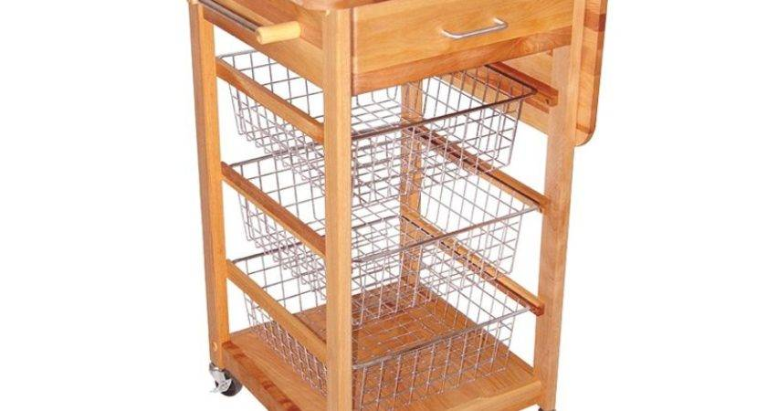 Chrome Wire Basket Kitchen Cart Islands
