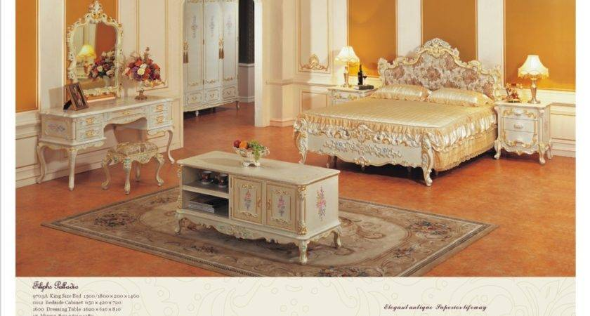 Classic Bedroom Furniture Solid Wood Hand Carved