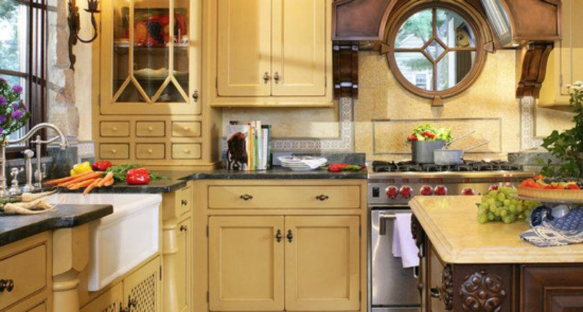Classic Butter Yellow Cabinets Beautiful Homes Design