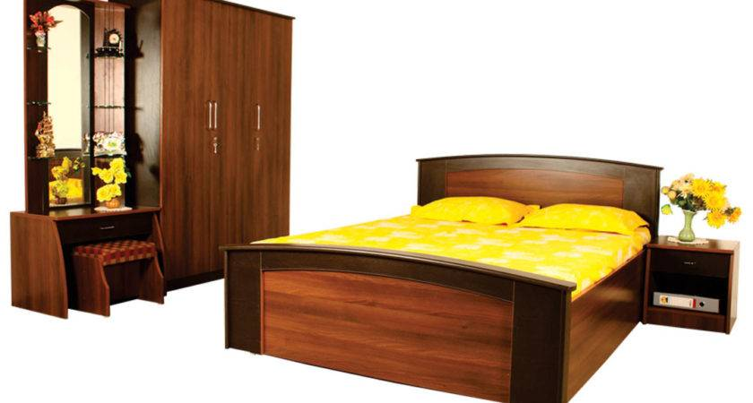 Classic Modern Bedroom Set Queen Cot Bed Side