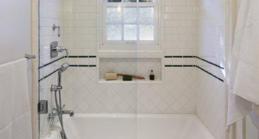Classic Tile Work Shower Traditional