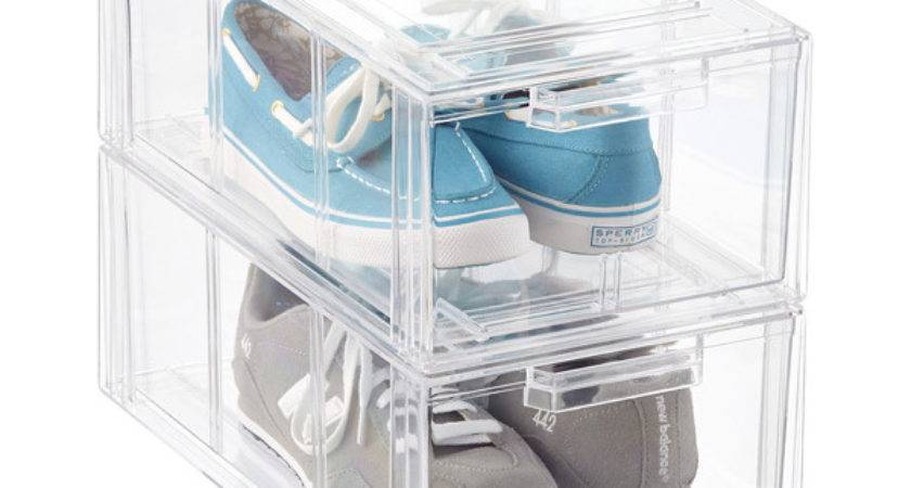 Clear Stackable Men Athletic Shoe Drawer