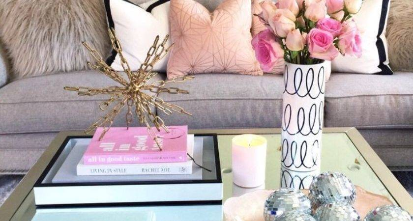 Coffee Table Decorating Absolutely Love Look Pink