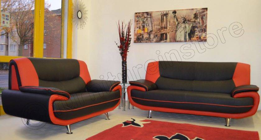 Collection Black Red Sofas