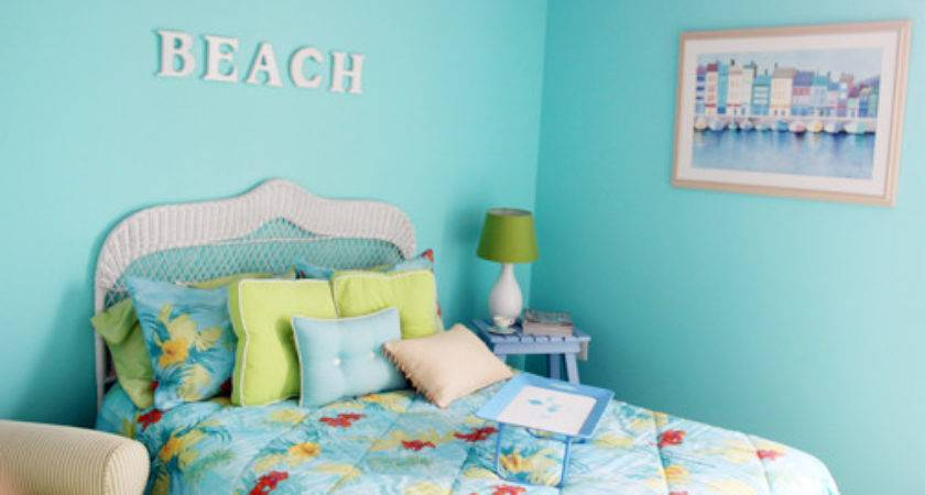 Color Changes Everything Aqua Bedroom Makeover Afternoon