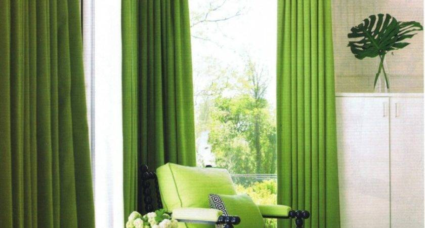 Color Curtains Green Walls March