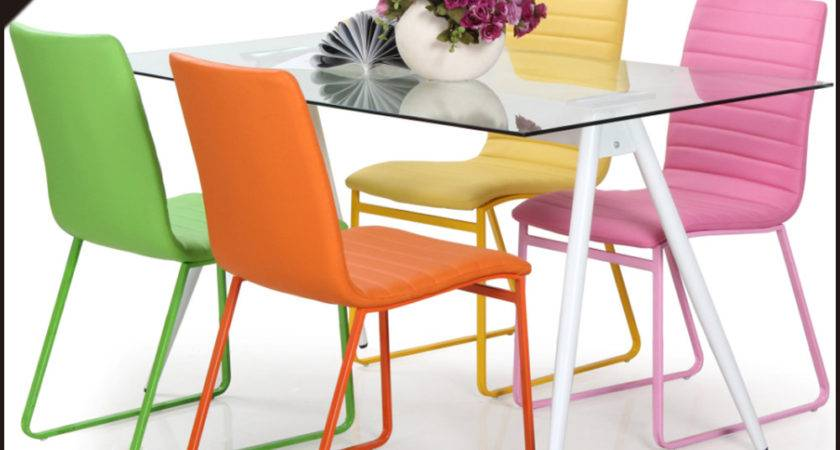 Colorful Chairs Glass Table Party Tables