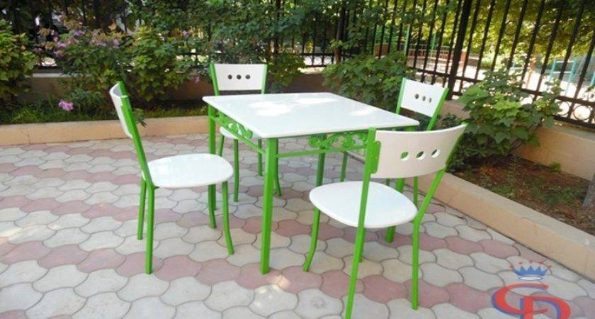 Colorful Tables Chairs Cafes Bars