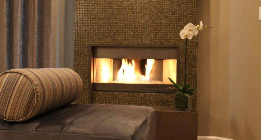 Colorful Tile Fireplaces Living Room Dining