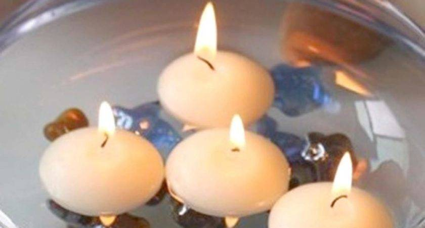 Colorful Water Floating Candle Decoration Home Holiday