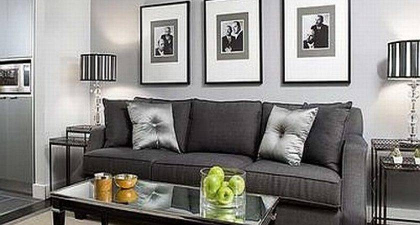 Colors Charcoal Grey Couch