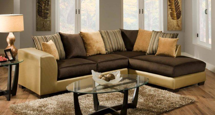 Colour Rug Goes Brown Leather Sofas Shining Home