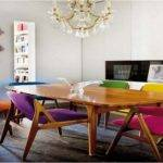 Colourful Dining Table Chairs Colorful Room