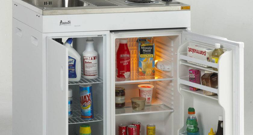 Compact Kitchen Stove Refrigerator Sink