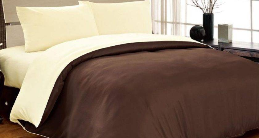 Complete Double Reversible Chocolate Brown Cream
