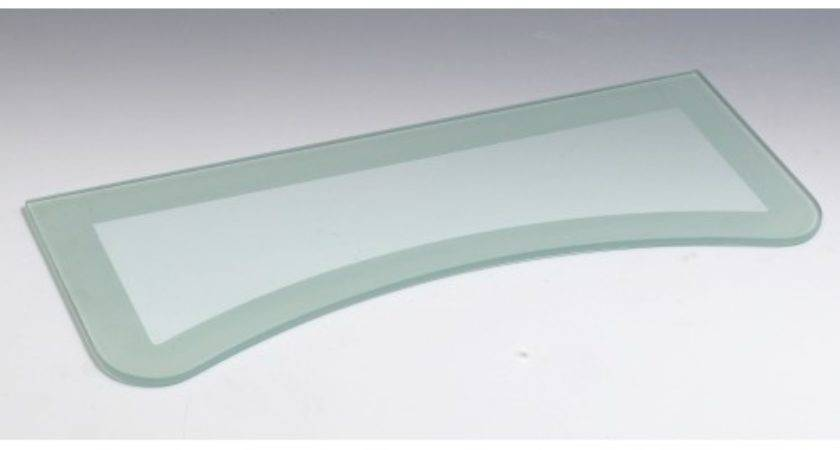 Concave Two Tone Floating Glass Shelf Wall Mounted Shelves