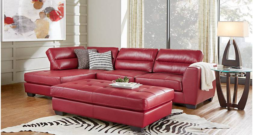 Congress Street Red Sectional Living Room