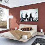 Contemporary Bedroom Paint Color Ideas Brown