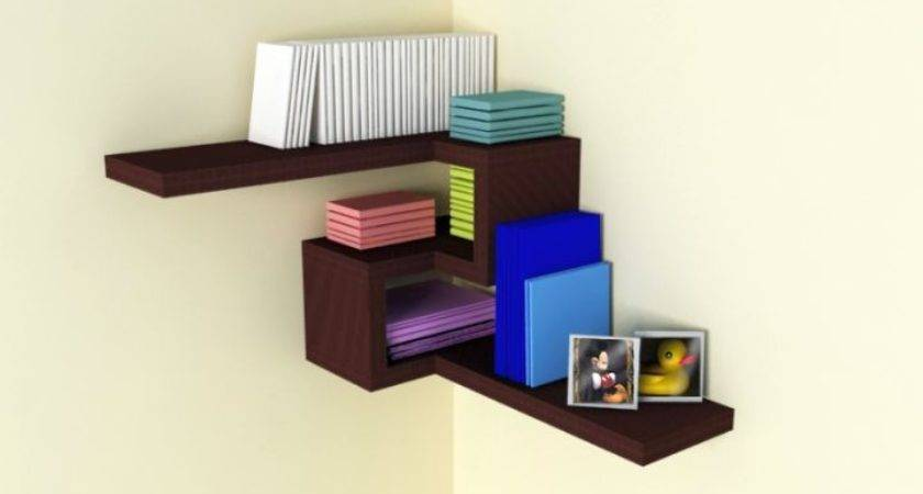 Contemporary Corner Shelf Designs