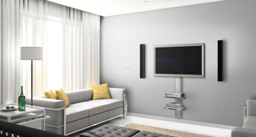 Contemporary Living Room Decorating Wall Mount