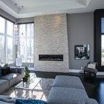 Contemporary Living Room Grey Tones
